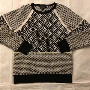J. Crew Cashmere Printed Crewneck Sweater